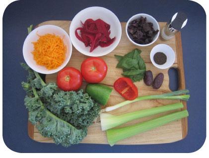 Jen's blended salad ingredients